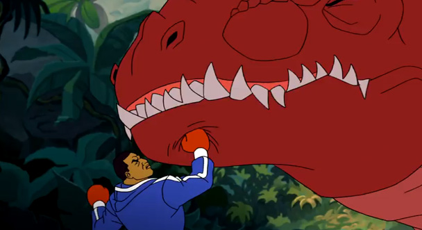 Mike tyson punches t-rex
