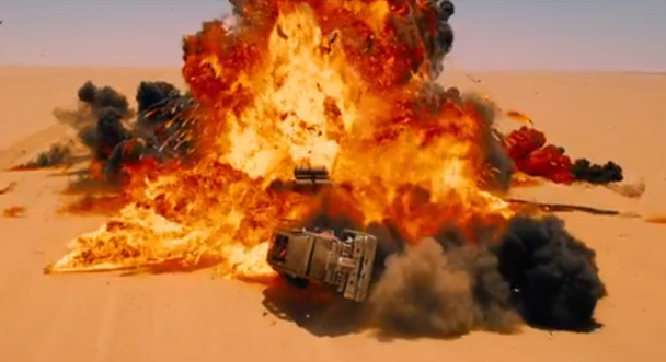 Mad Max Fury Road explosion